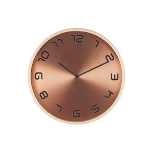 Bronzové hodiny Present Time Bent