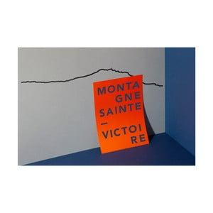 Čierna nástenná dekorácia so siluetou mesta The Line Sainte Victoire XL