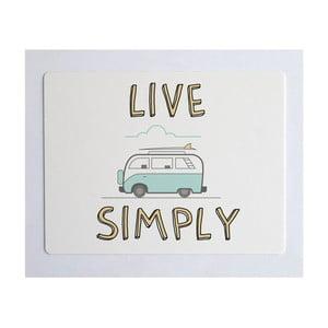 Podložka na stôl Little Nice Things Live Simply, 55 x 35 cm