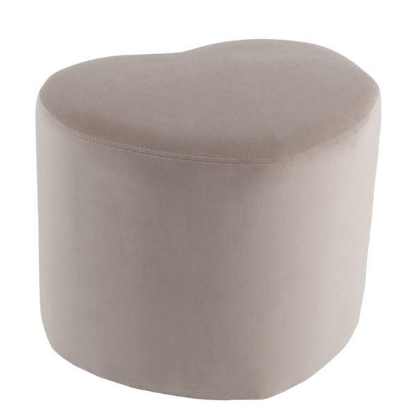 Béžový sedací puf v tvare srdca J-Line