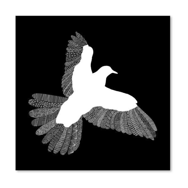 Plagát Bird Black od Florenta Bodart, 30x30 cm