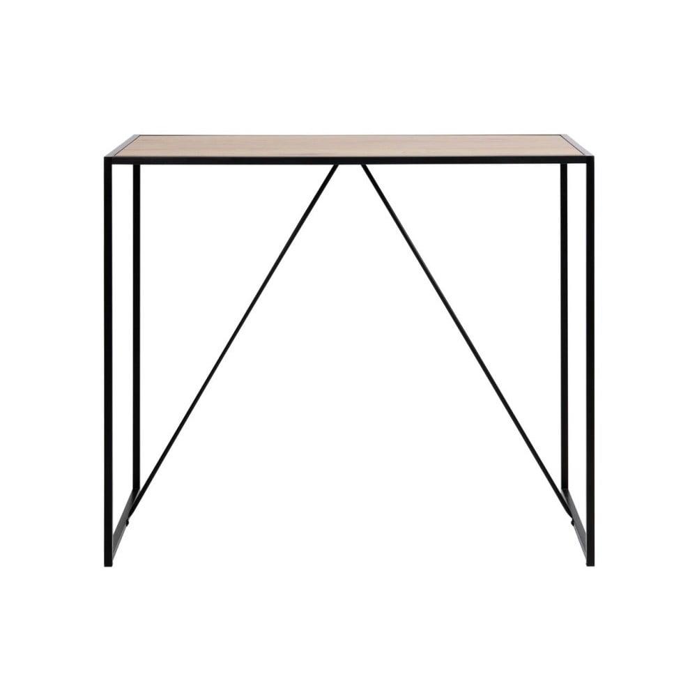 Čierno-hnedý barový stolík Actona Seaford