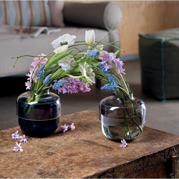 Sada 2 sivo-fialových sklenených váz LEONARDO Fusione
