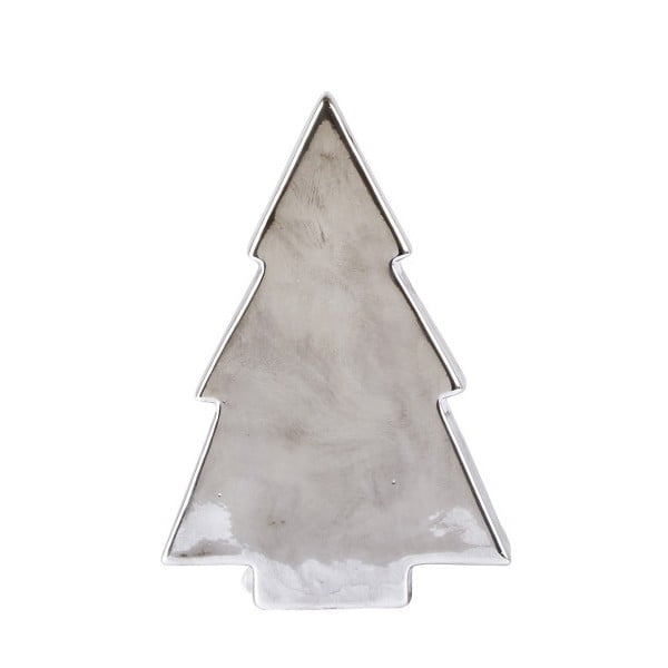 Dekoratívna soška KJ Collection Tree Silver Matt, 16,4 cm