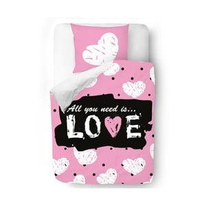 Obliečky Whte Love, 140x200 cm