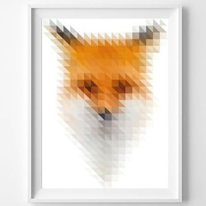 Plagát Blurry Fox, A3