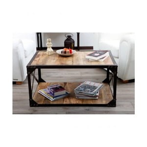 Konferenčný stolík z masívneho mangového dreva Massive Home Jenny, 90 x 45 cm