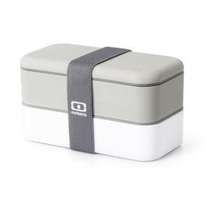 Sivo-biely obedový box Monbento