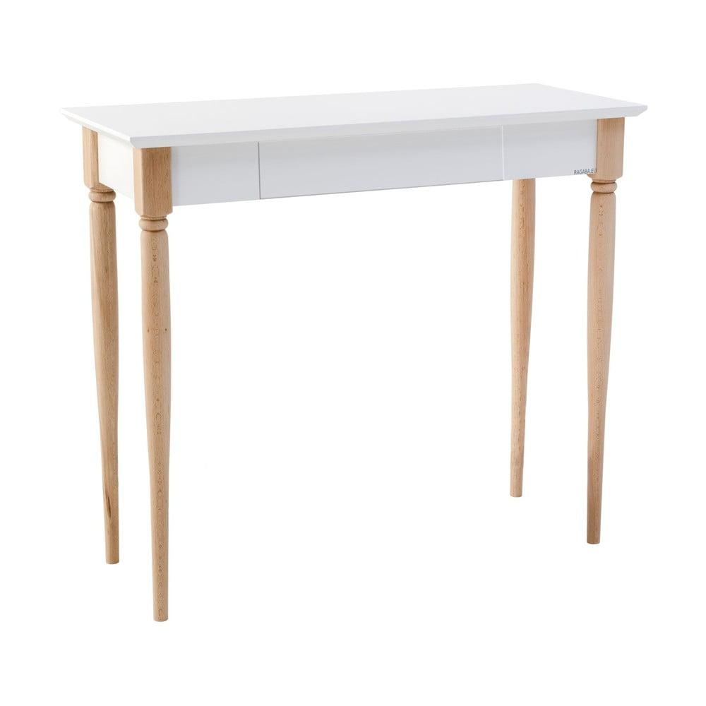 Biely pracovný stôl Ragaba Mamo, šírka 85 cm