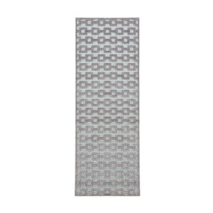 Sivo-modrý behúň Mint Rugs Shine, 80 × 250 cm