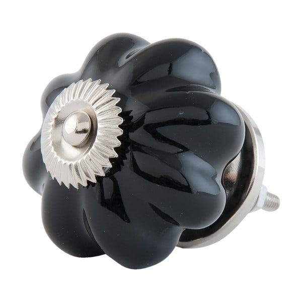 Úchytka na dvierka Black Flower