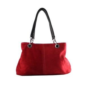 Červená kožená kabelka Chicca Borse Westa