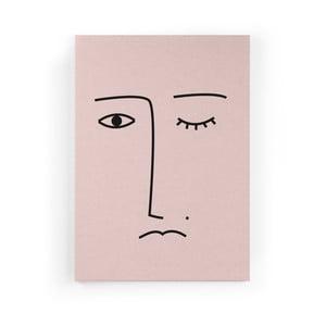 Obraz zo zamatového plátna Velvet Atelier Face, 50×70 cm