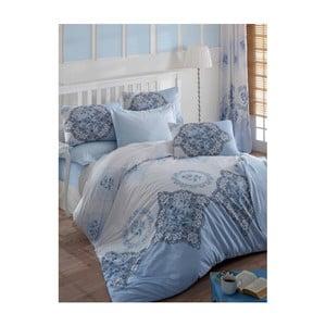 Modré obliečky na jednolôžko Claire, 160 x 220 cm