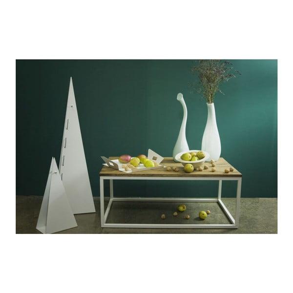 Konferenčný stôl Coffee White, 110x70x45 cm