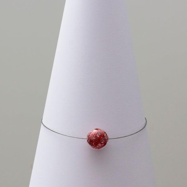 Sklenený náhrdelník ko-ra-le Wired, červený