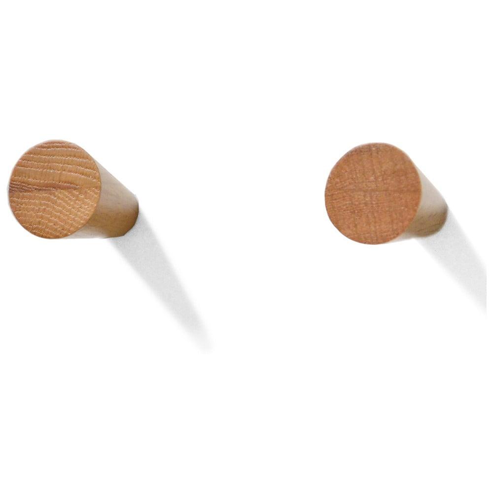 Sada 2 háčikov z dubového dreva Wireworks Mezza