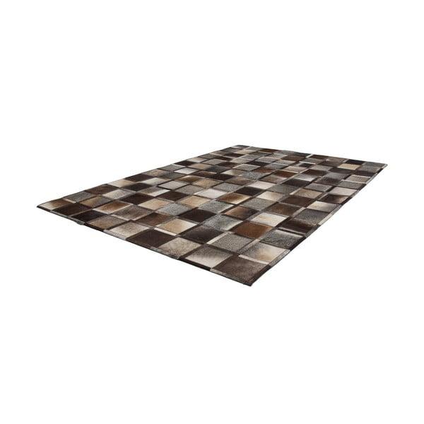 Kožený koberec Eclipse 120x170 cm, sivohnedý