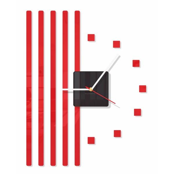 Hodiny z plexiskla Points Red