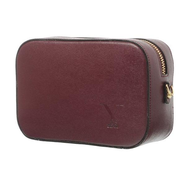 Kožená listová kabelka Little High Bordo
