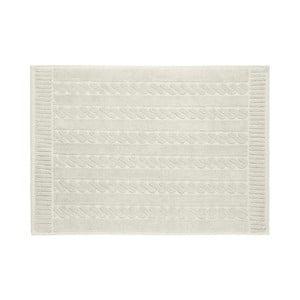Sivobéžová bavlnená kúpeľňová predlozka Maison Carezza Amelia, 50×70 cm