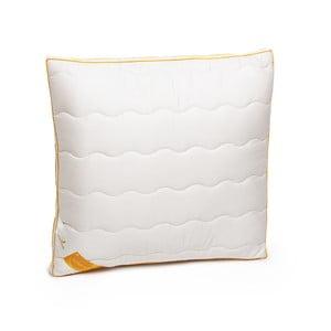 Biely vankúš s vlnou merino Lana Green Future, 60 x 60 cm