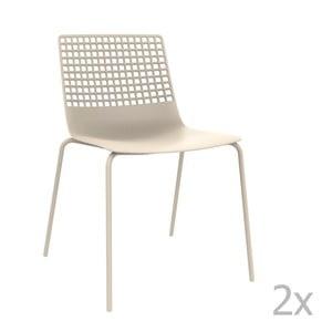 Sada 2 bielych záhradných stoličiek Resol Wire