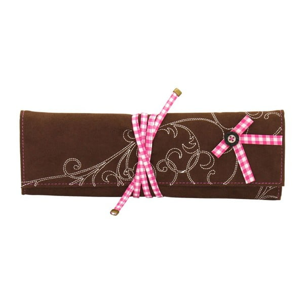 Šperkovnica Roll Bavaria Brown/Pink, 27x9,5x3 cm