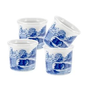 Sada 4 bielo-modrých porcelánových stojanov na vajce Spode Blue Italian, ø 4,5 cm