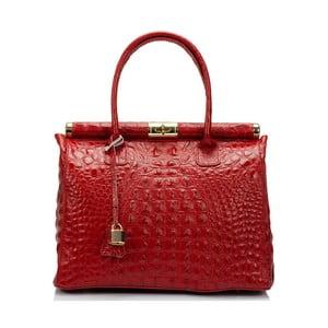 Červená kožená kabelka Lisa Minardi Lantha