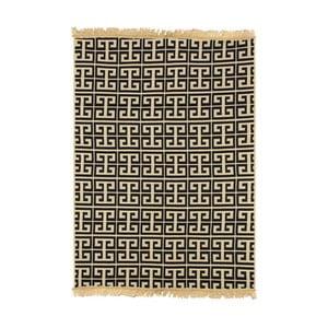 Modrý koberec s béžovým vzorom Ya Rugs Tee, 60x90cm