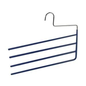 Modrý protišmykový vešiak na nohavice s 4 držiakmi Wenko Hanger Baggy