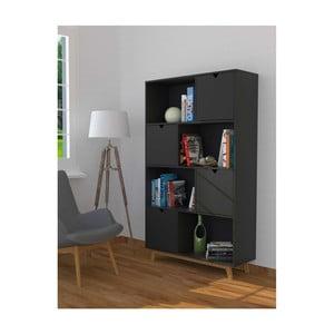 Sivá knižnica zborovicového dreva SOB Gaudino