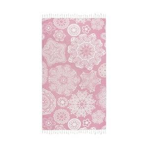 Ružová hammam osuška Kate Louise Isabella, 165x100cm