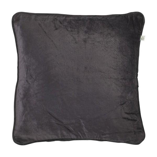 Vankúš Fluweel Zwart, 45x45 cm