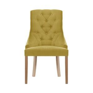 Žltá jedálenská stolička Jalouse Maison Chiara