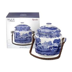 Bielo-modrá porcelánová dóza na sušienky Spode Blue Italian