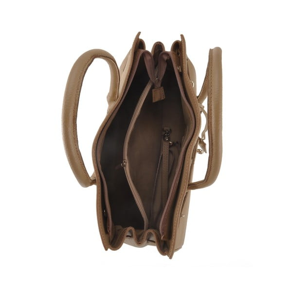 Hnedá kožená kabelka Florence Gallina