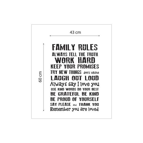 Vinylová samolepka na stenu Really Nice Things Family Rules
