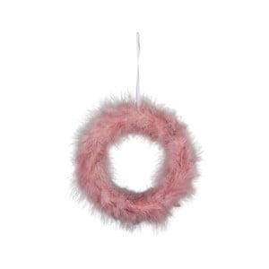 Ružový jarný veniec z peria Ego Dekor Spring, ⌀ 22 cm