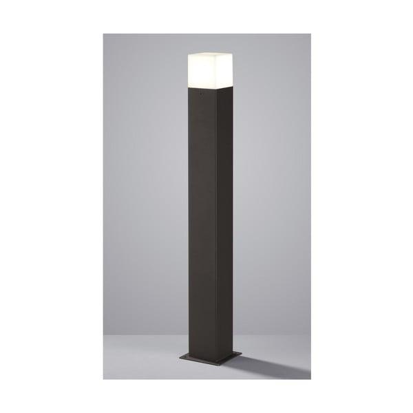 Sivé vonkajšie stojacie svetlo Trio Hudson, výška 80 cm
