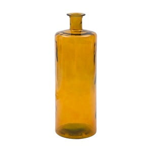 Žltá váza z recyklovaného skla Mauro Ferretti Lop, výška 75 cm