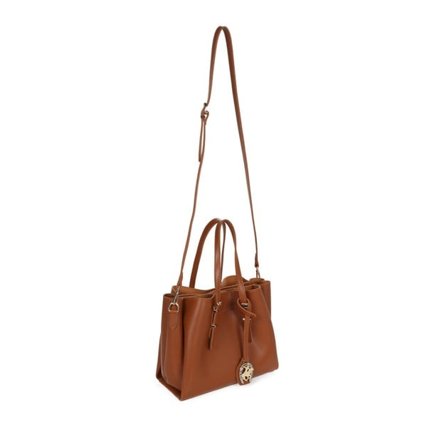 Hnedá kabelka z eko kože Beverly Hills Polo Club Alicia