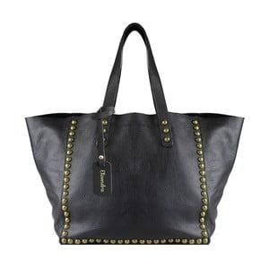 Čierna kožená kabelka Maison Bag Jaqueline