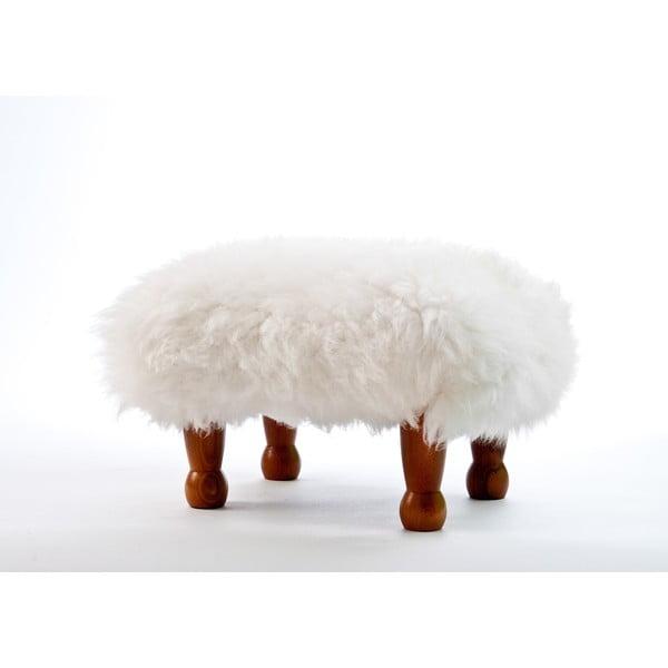 Stolička z ovčej kože Anwen Ivory