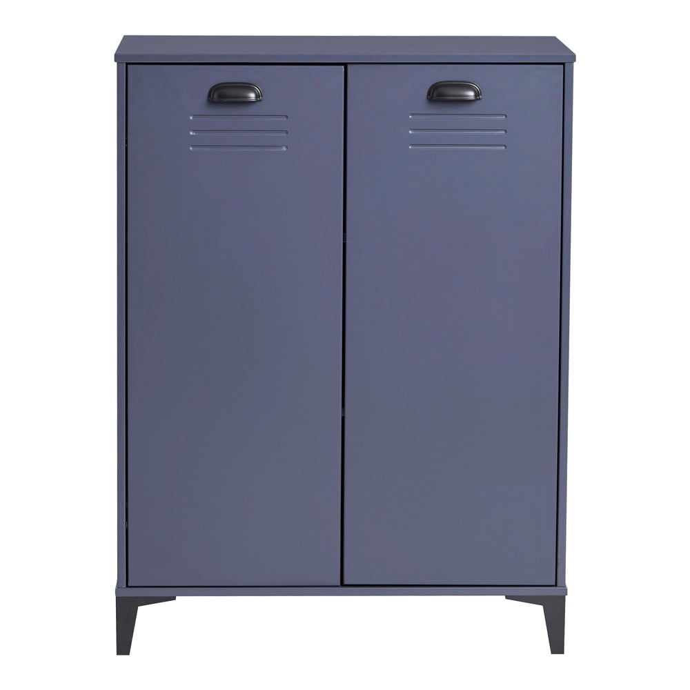 Modrá komoda Marckeric Zack, 75 × 100 cm