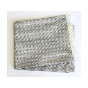 Svetlosivý pléd s podielom bavlny Euromant Skyline, 140×180 cm
