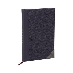 Tmavomodrý zápisník Ted Baker Cadet, 192 stránok