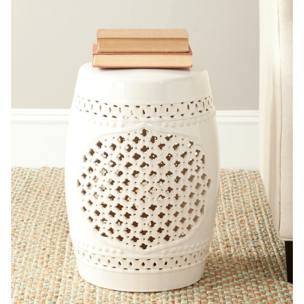 Krémový keramický stolík Safavieh Marbella