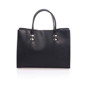 Čierna kožená kabelka Massimo Castelli Hecuba